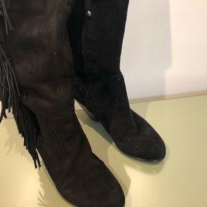 Sam Edelman Suede Side Fringe Boots